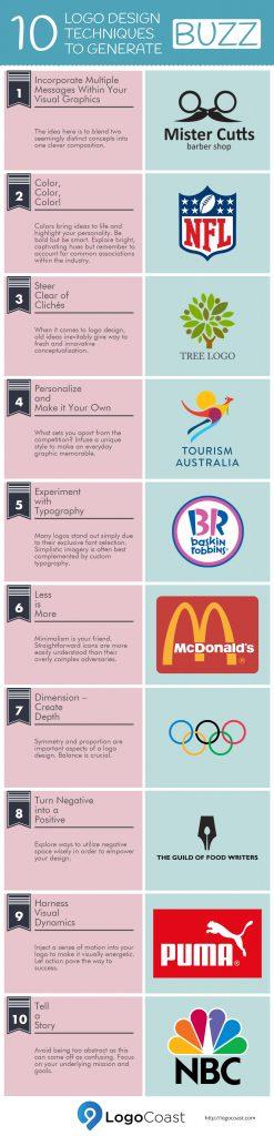 10 Logo Design Techniques to Generate Buzz (Infographic)